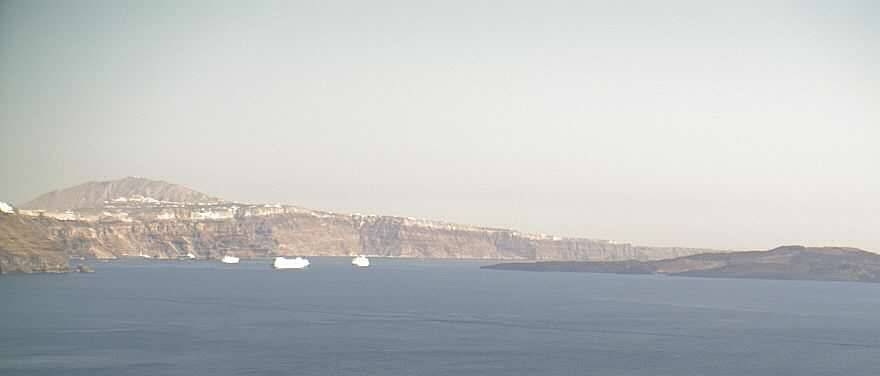 A favourite view of Aegean Caldera from Mystique,  Santorini